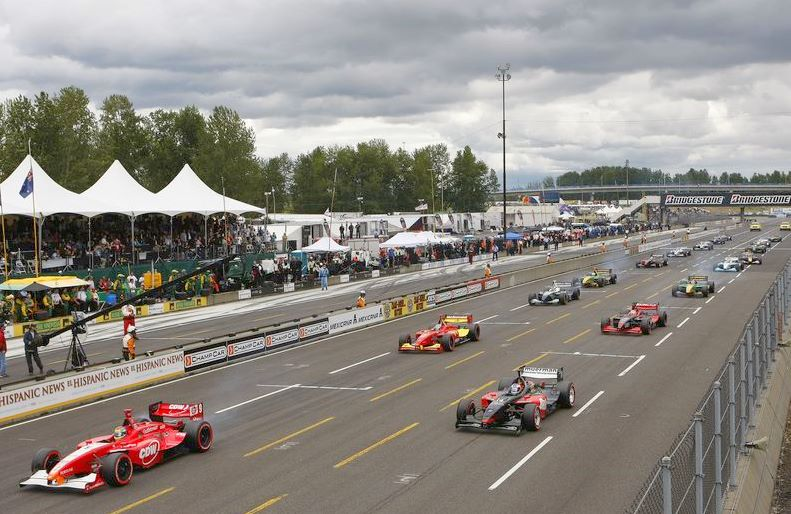 The last Champ Car race at Portand was 2007 and it was done with a standing start. Today's inferior IndyCars cannot do standing starts, or is it the drivers?