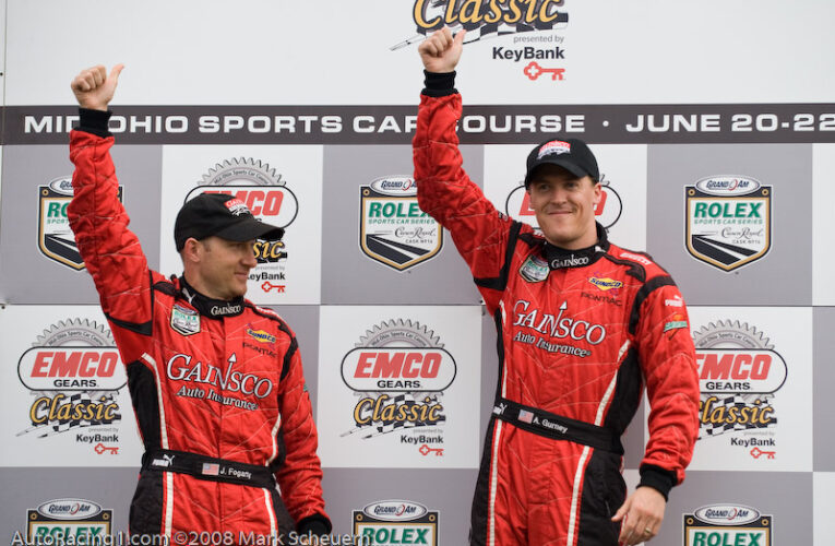 Fogarty and Gurney shine in the rain at Mid Ohio
