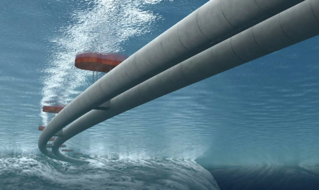 Floating tunnels 100 feet under the surface
