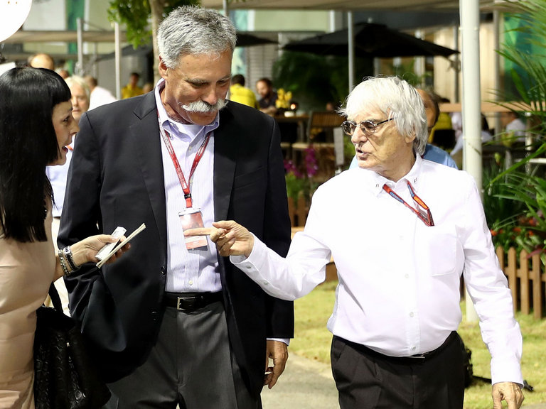 Carry and Ecclestone in Singapore