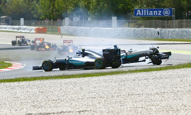 F1: Hamilton has history of colliding with rivals