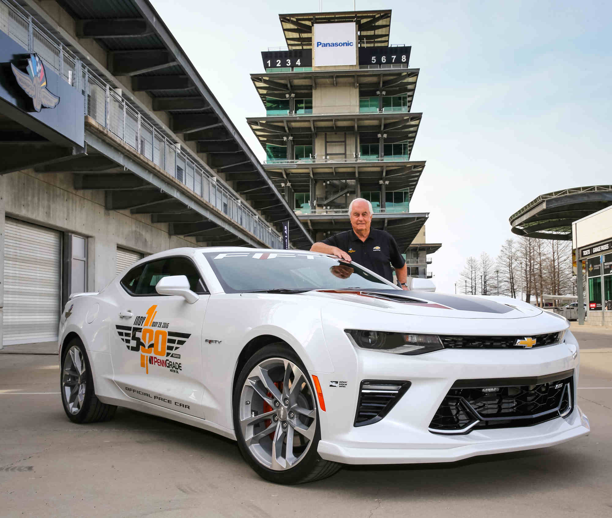 The 2017 Camaro SS 50th Anniversary Edition will lead the 100th running of the Indianapolis 500 at the Indianapolis Motor Speedway in Indianapolis, Indiana next month, driven by motorsports legend Roger Penske, who is marking 50 years as a race team owner.
