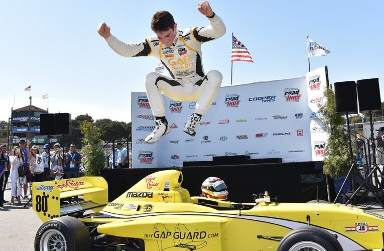O'Ward Maintains Pro Mazda Title Hopes with Mazda Raceway Victory