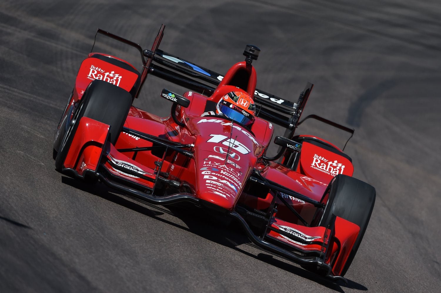 Graham Rahal could not touch the Chevys