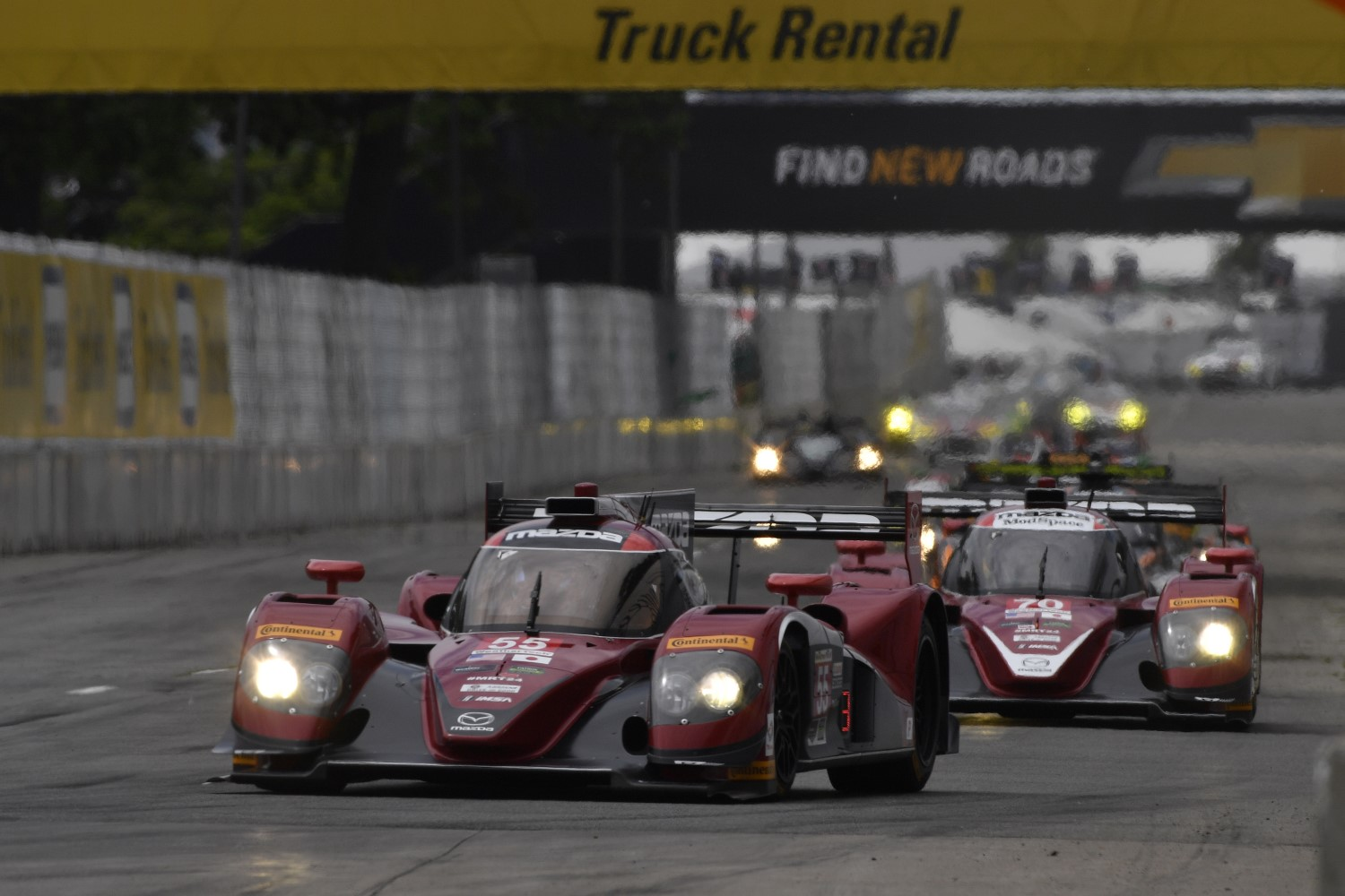 The Mazda Prototypes were winning so many races so they slowed them down. What a joke.