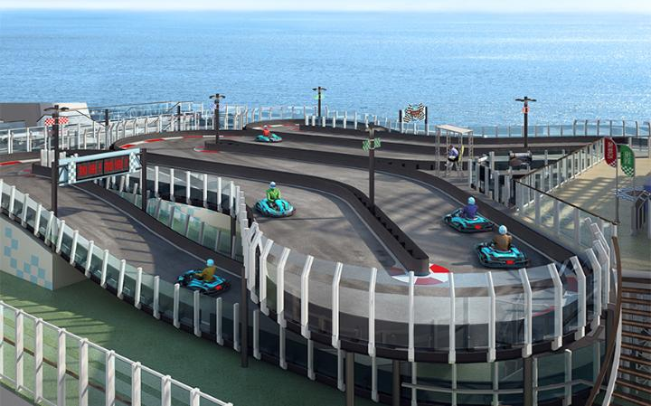 New cruise ship to feature go-kart track onboard