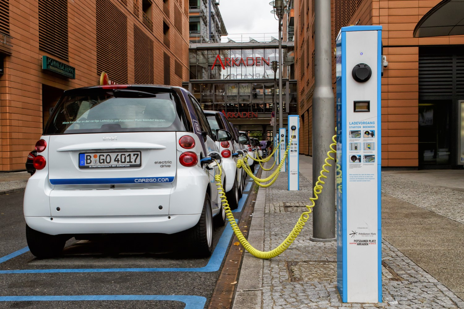Curbside charging in Europe is already fairly common