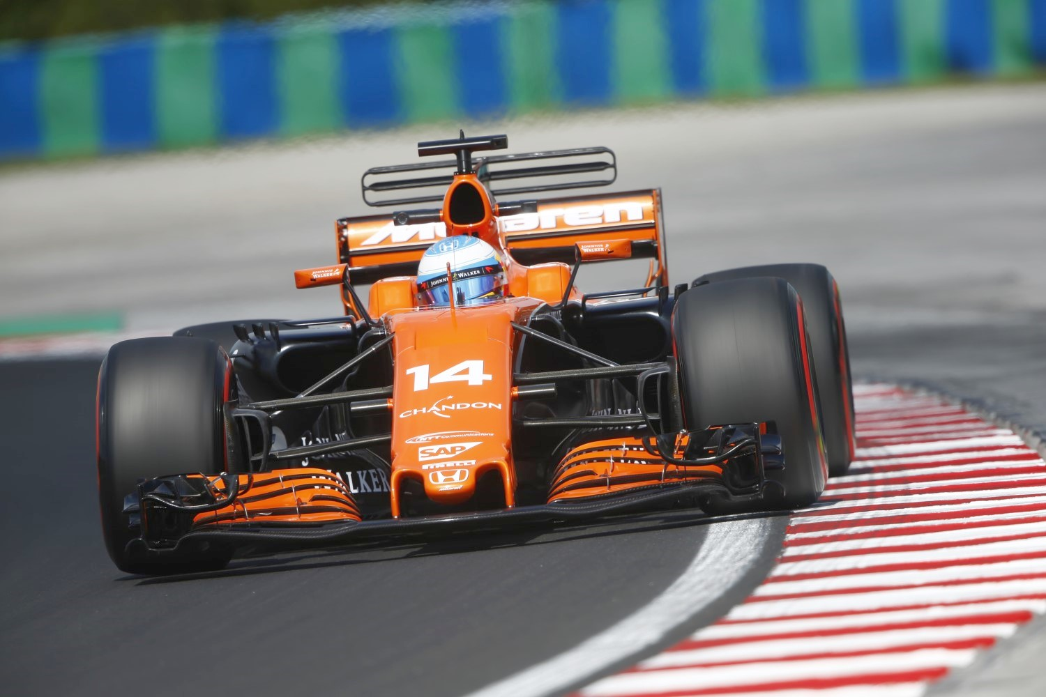 The McLaren chassis is good, and with a Mercedes or Ferrari engine it would win races