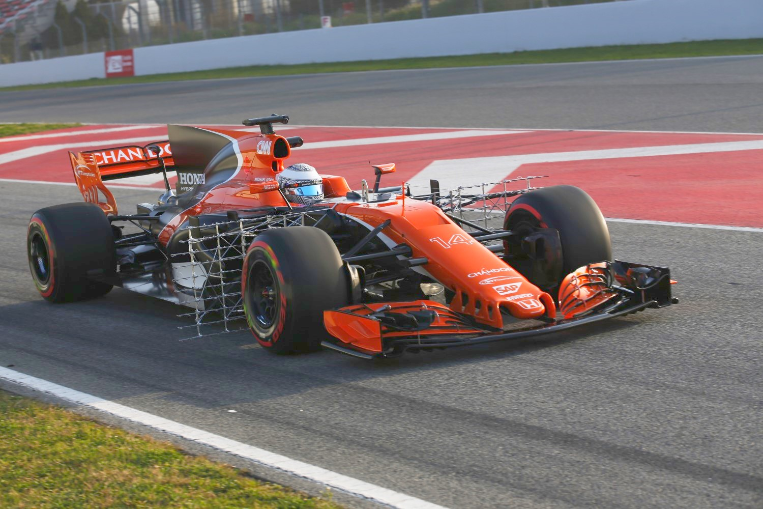 Alonso in the restless McLaren