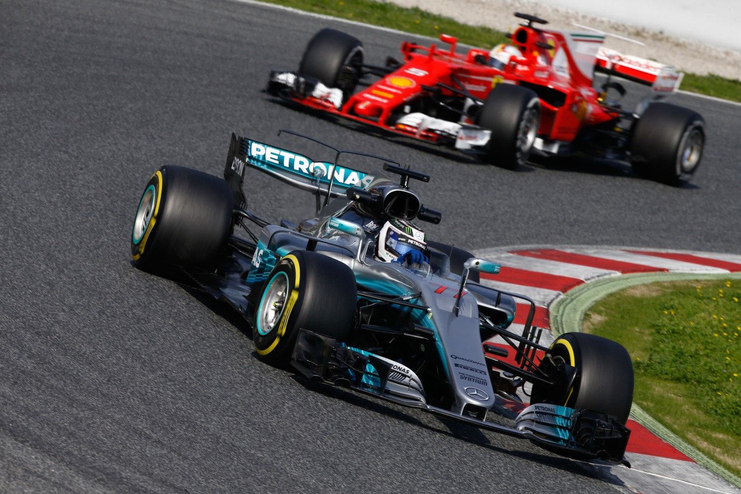 Bottas ahead of Vettel in Barcelona. Is the Mercedes still ahead of the Ferrari?
