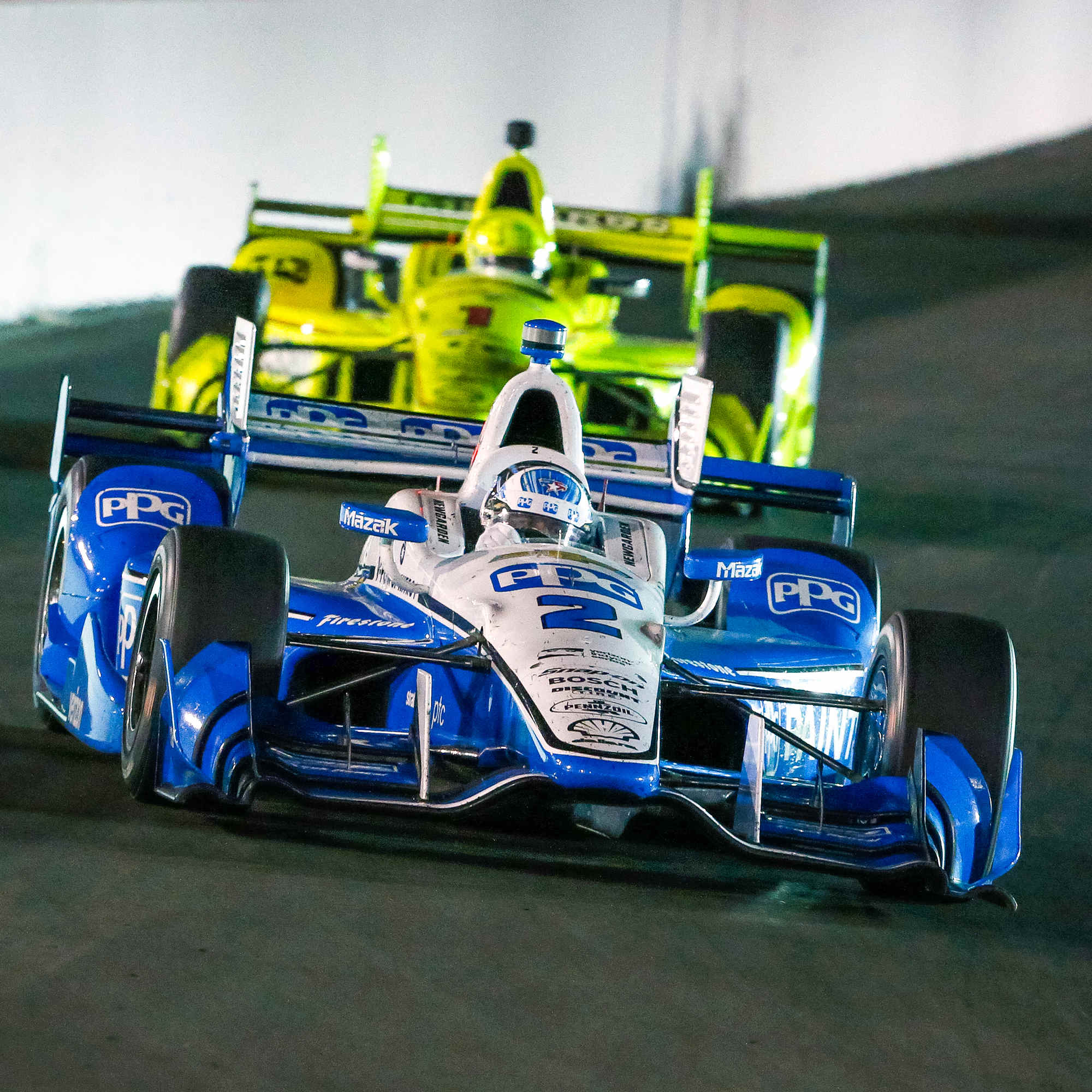 Newgarden and Pagenaud at Gateway last year