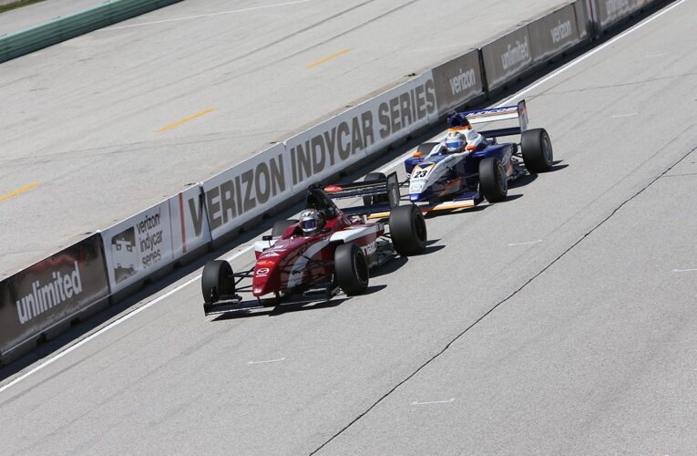 Martin Out-Duels Franzoni at Road America to Win Pro Mazda Thriller