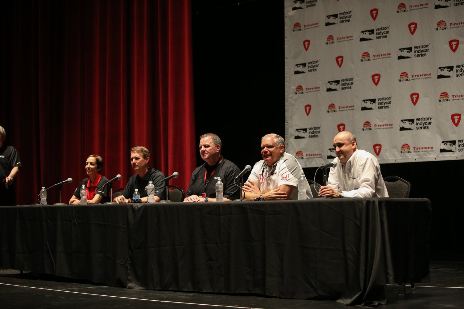 From left, Lisa Boggs, Mark Kent, Jay Frye, Art St. Cyr, Stefano De Ponti