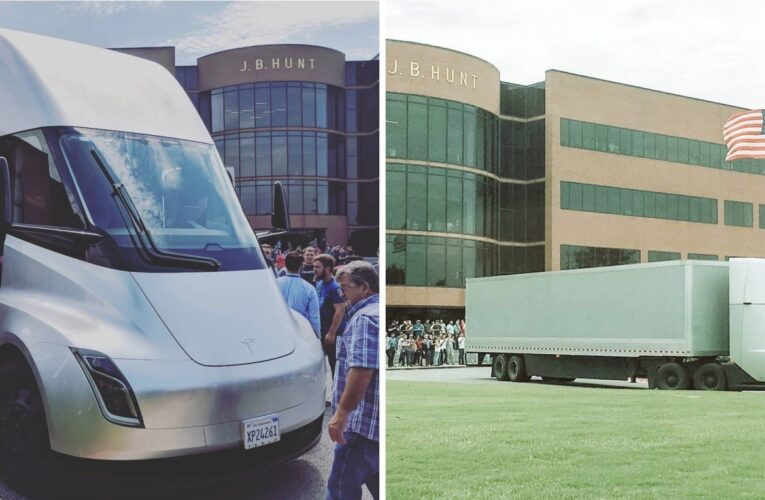 Video: Tesla semi truck spotted smoking its tires