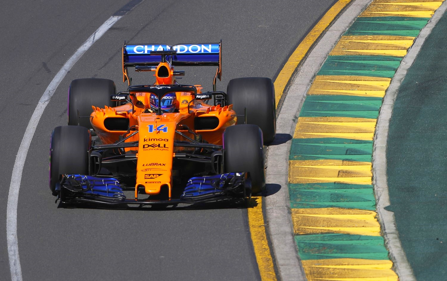 Alonso in the too-slow McLaren