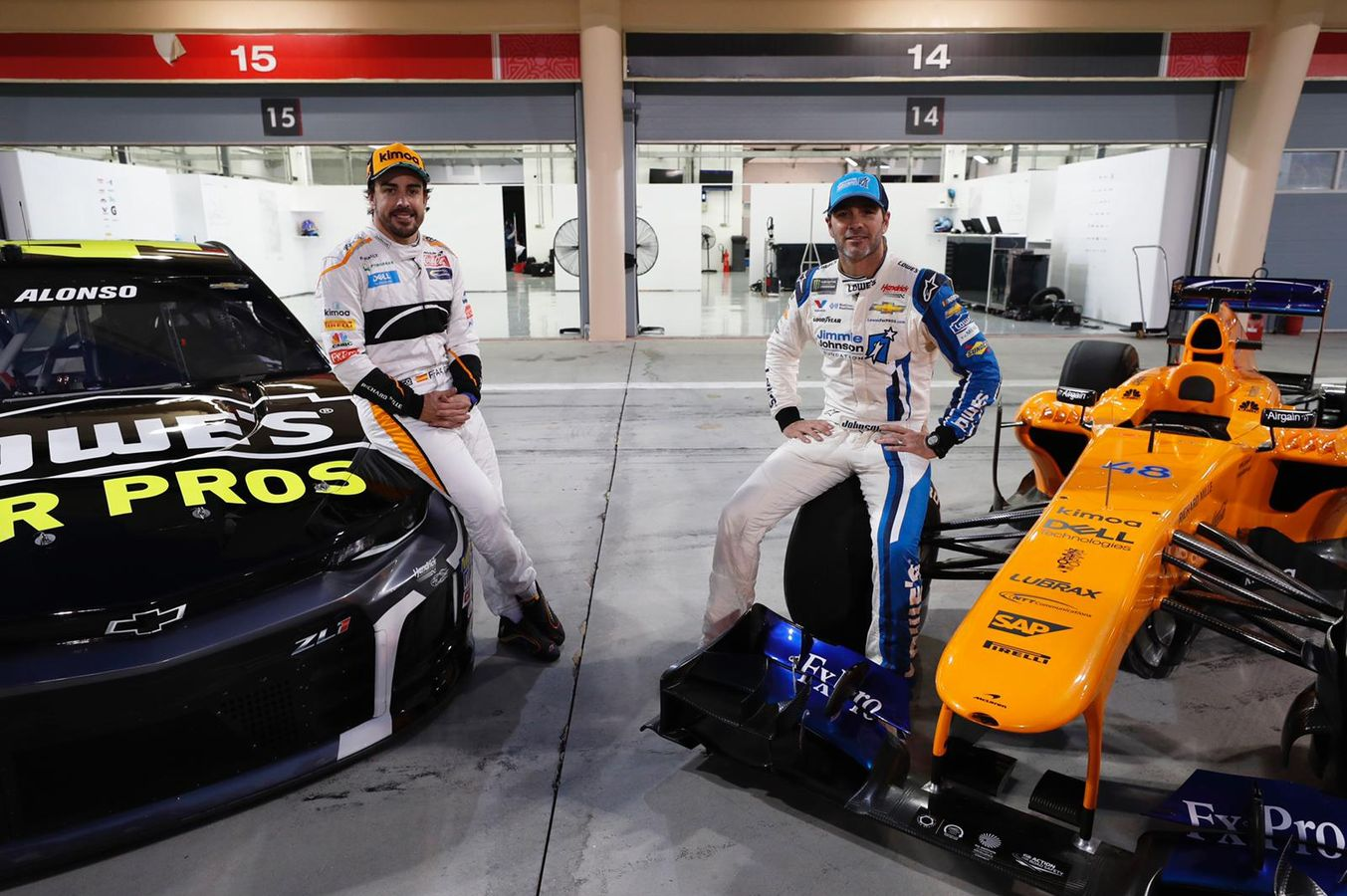Jimmie Johnson and Fernando Alonso were the latest two to swap race cars