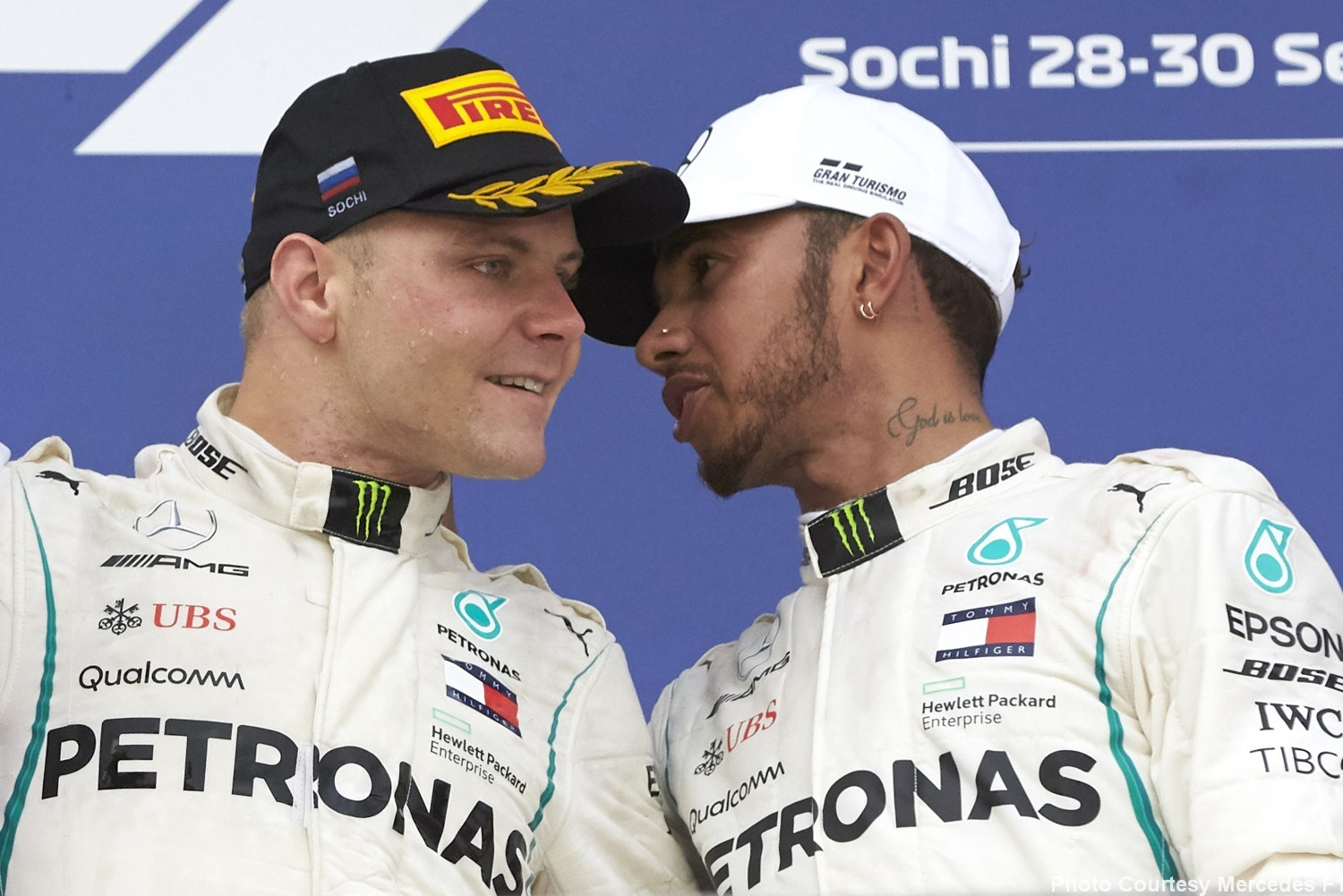 Hamilton to Bottas, you are the best 'slave' I ever had