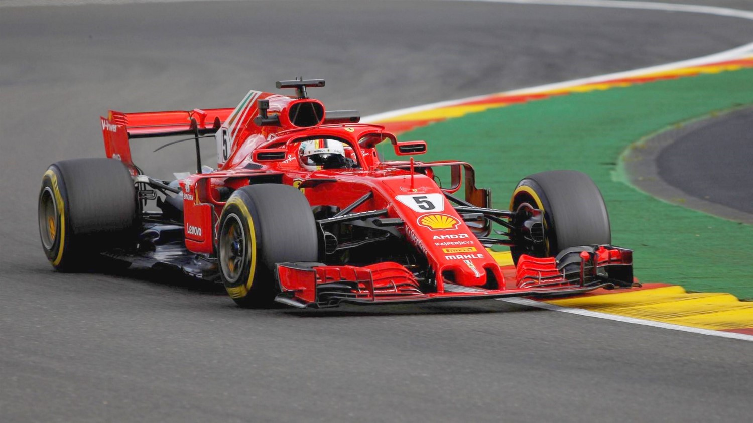 Vettel gives F1 Spa record again