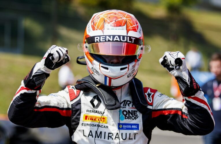 Hubert storms to pole in Budapest qualifying