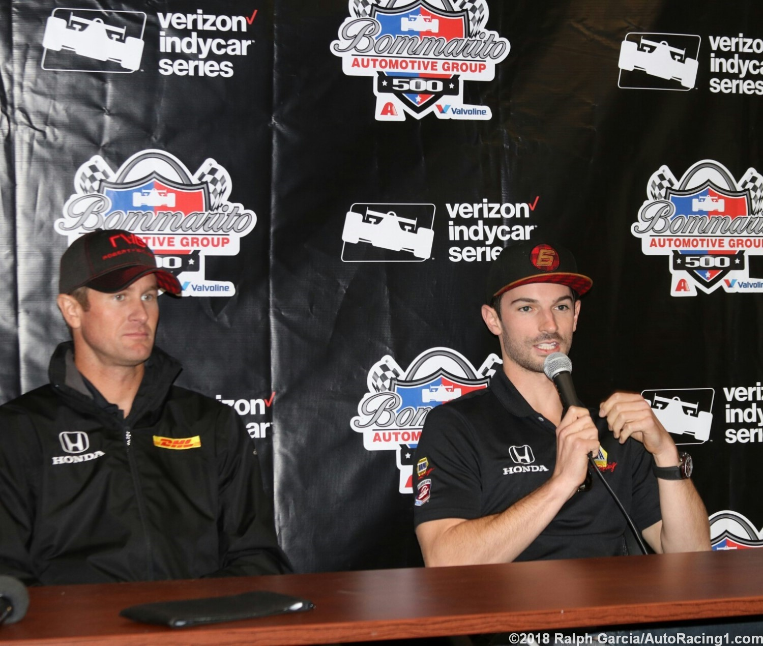 Ryan Hunter-Reay and Alexander Rossi