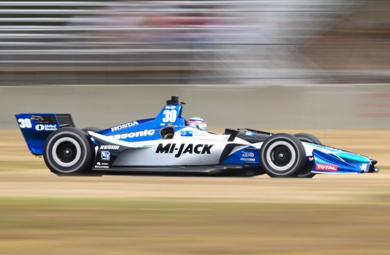 Sato holds off Hunter-Reay to win Portland GP