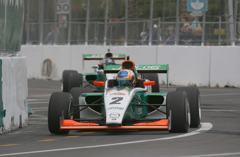 Dutchman VeeKay Comes From Behind to Claim Pro Mazda Victory