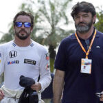 Alonso and his agent Abad