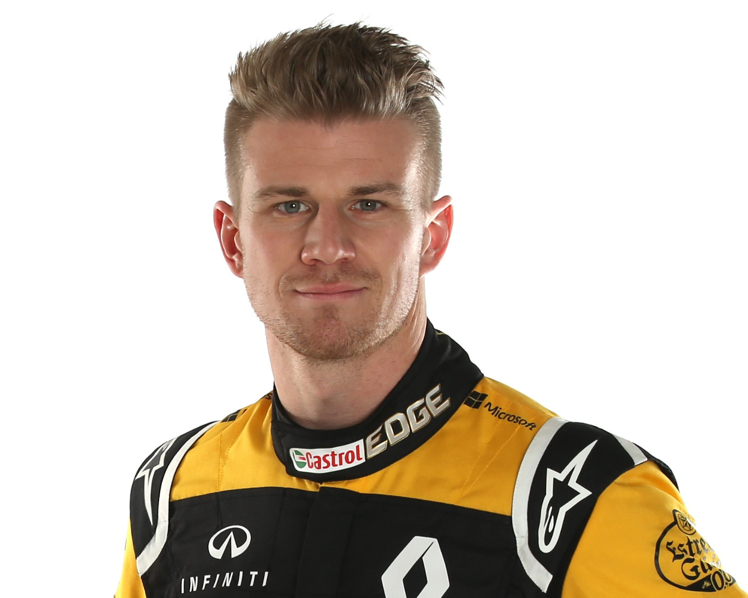 Nico Hulkenberg prepares to weed his garden in 2020