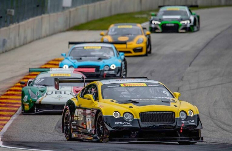 Parente Blasts Bentley to the Top PWC GT Time Friday at Road America