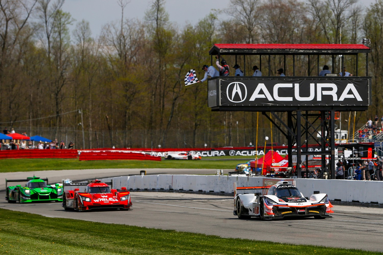 Places like Mid-Ohio have a limited pitlane to accommodate a lot of cars