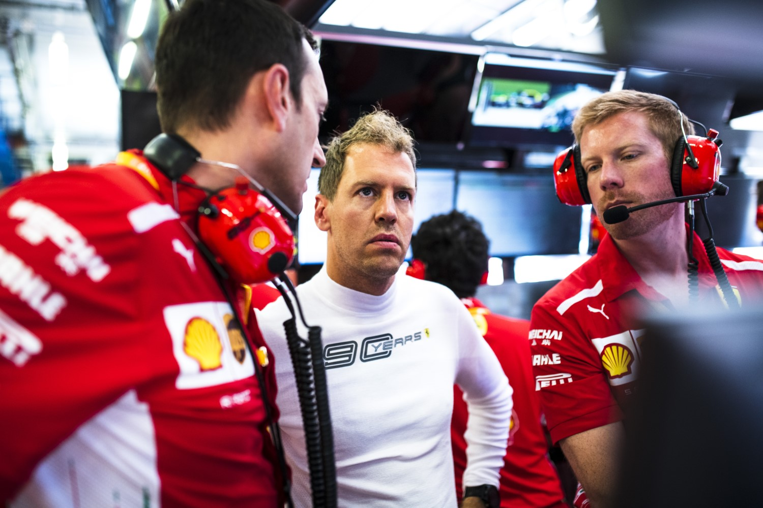Vettel cannot believe his luck