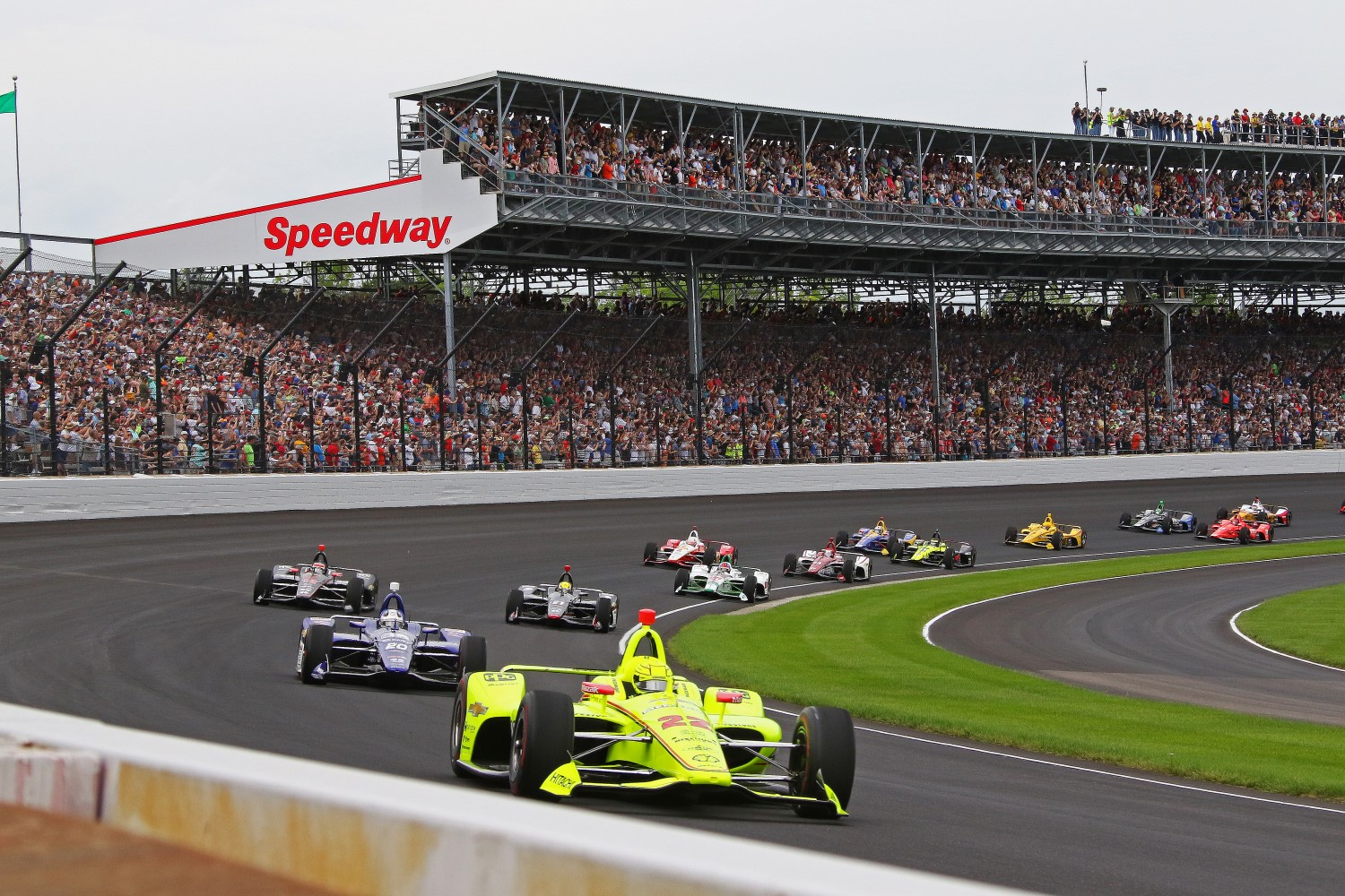 Last year Simon Pagenaud beat Alexander Rossi in a shootout to win.