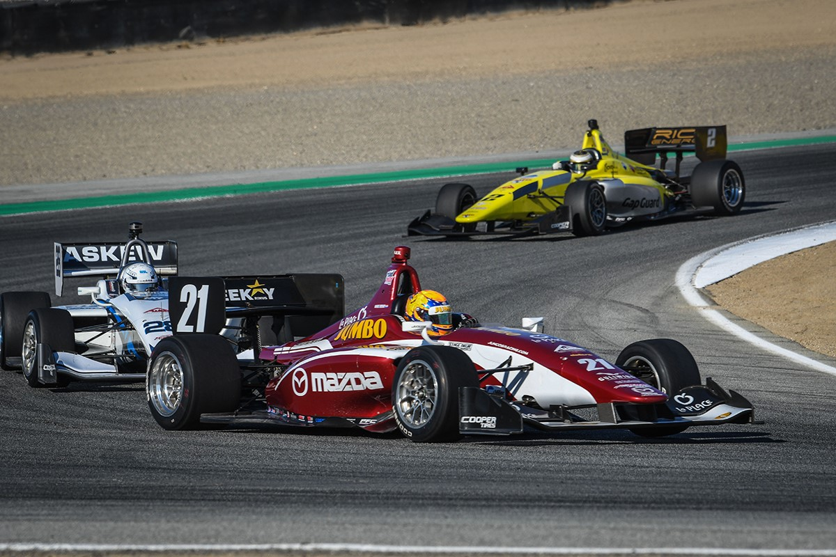 Indy Lights action at Laguna Seca