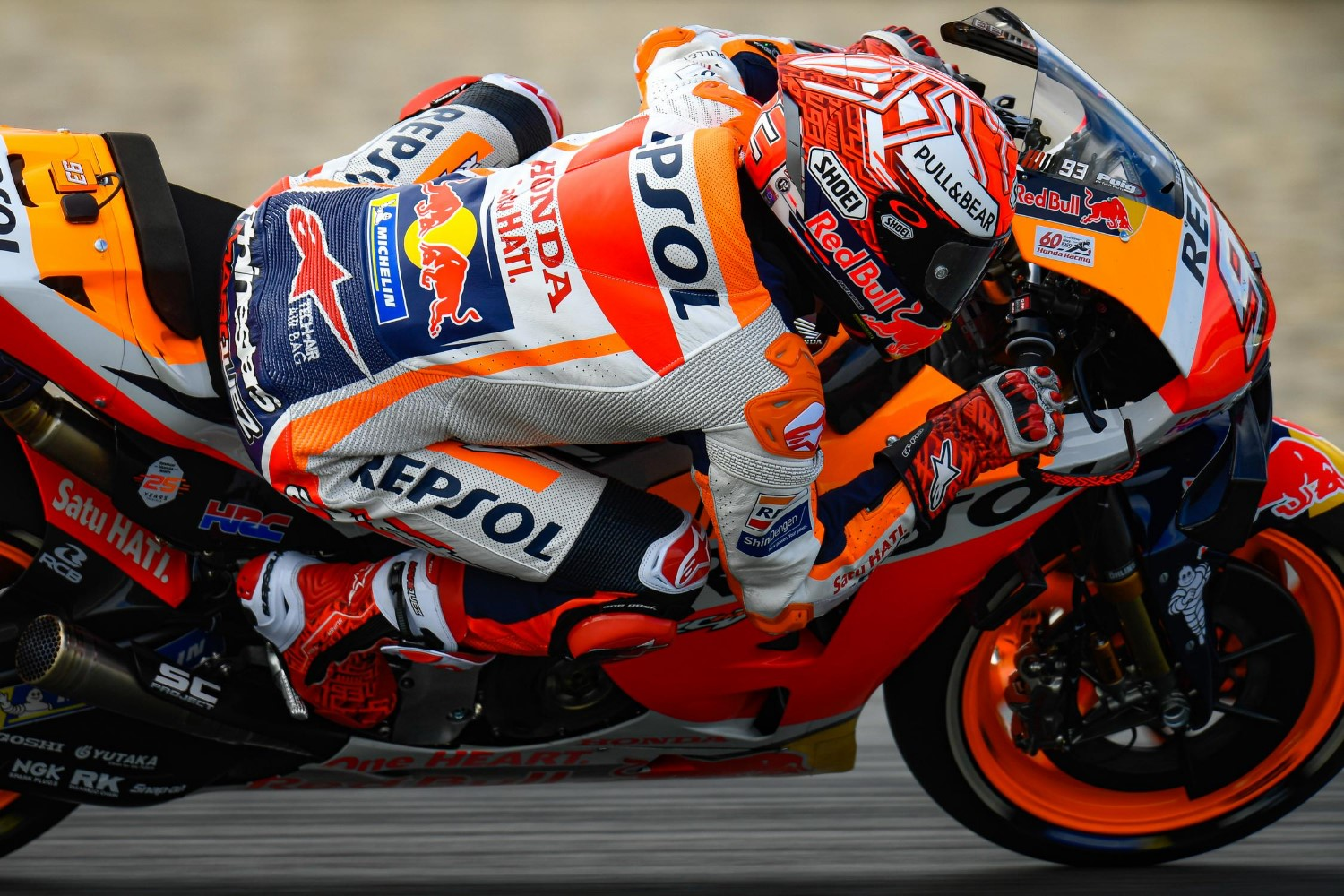 Marquez saved his bike from a spill and lost time, so 4th best on this day