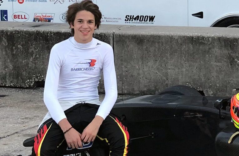 Rubens Barrichello's son makes Road-To-Indy debut