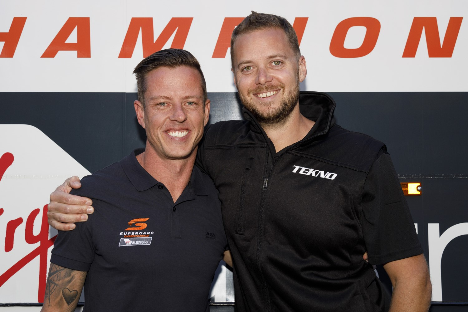 James Courtney and Jonathon Webb