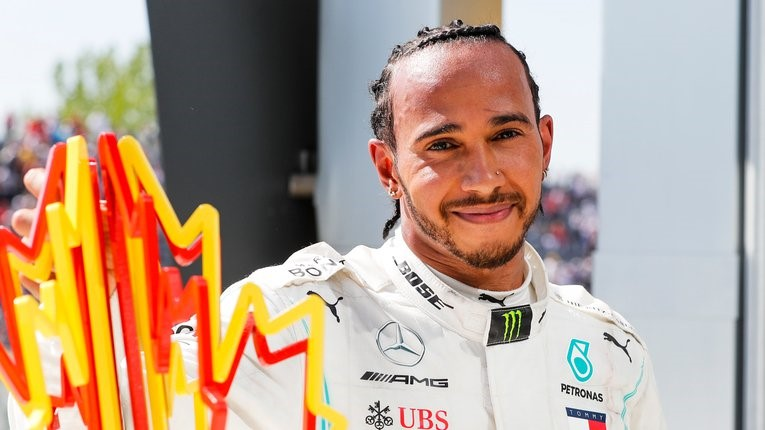 With his superior car, Lewis Hamilton knows he only has to beat his inferior teammate Bottas