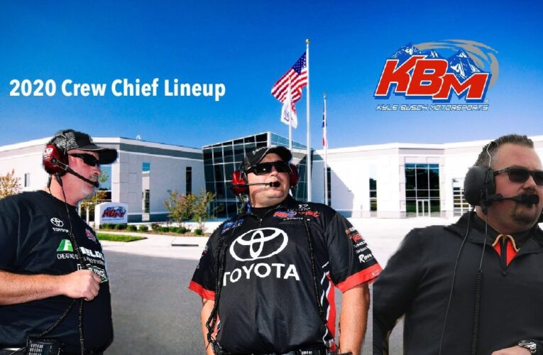 Kyle Busch Motorsports announces 2020 driver and crew chief lineup