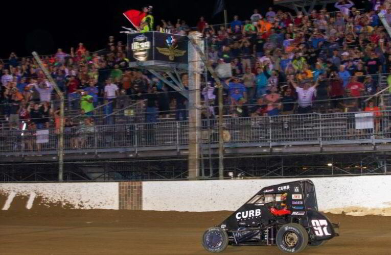 NASCAR Star Larson Wins Wild Stoops Pursuit Race at The Dirt Track at IMS