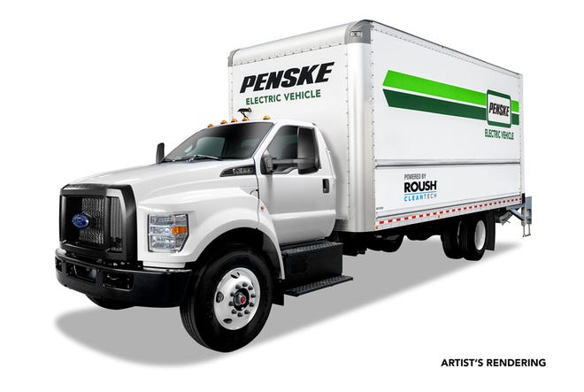 Penske and Roush team up on electric truck deal