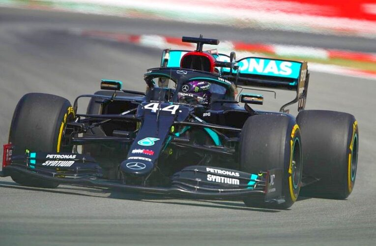 Hamilton leads another Mercedes 1-2 in Spanish GP Practice 2