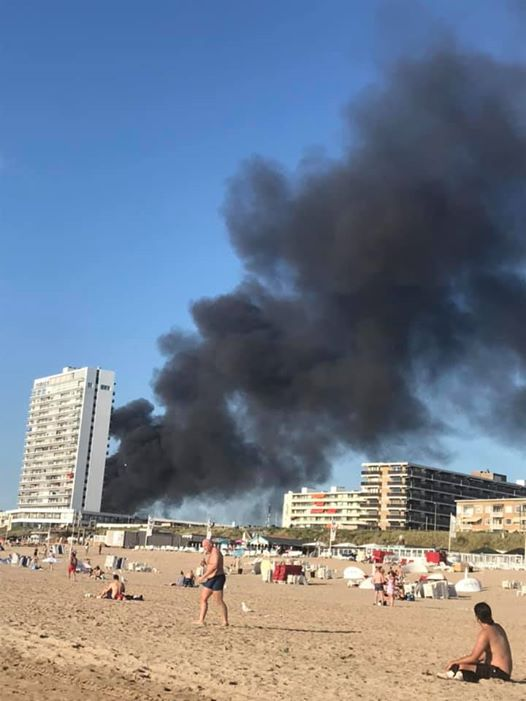 The Zandvoort tire fire was visible from the nearby beach