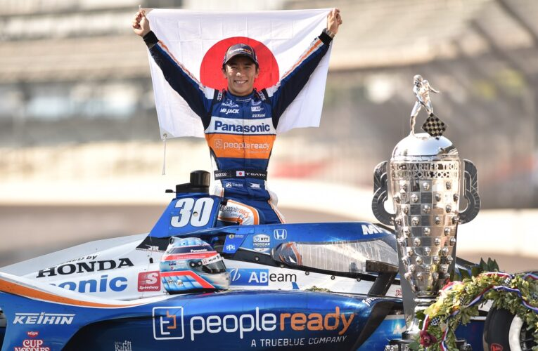 2020 Indy 500 winner Sato Day-After Photoshoot