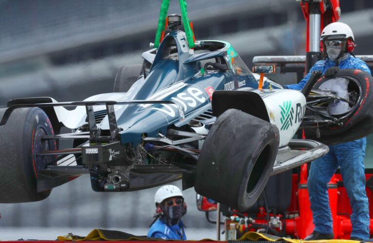 Alonso crashes 2nd year in row at Indy