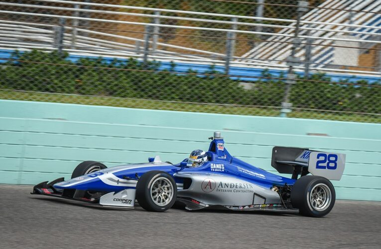 Kirkwood Fastest in Indy Lights Spring Training at Homestead