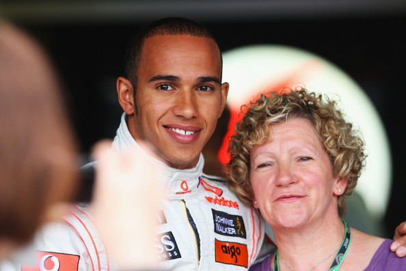 Lewis Hamilton and his mother. Of course he will re-sign with Mercedes. Without the superior Mercedes car Hamilton would have far less wins and championships to his credit.