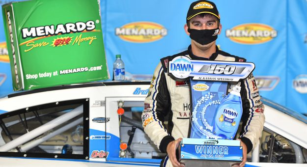 Bret Holmes wins Kansas Speedway ARCA race
