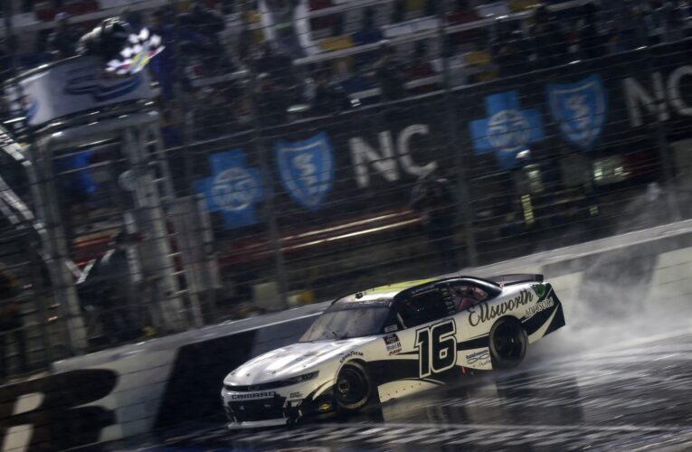 Allmendinger slogs way to Roval Xfinity win