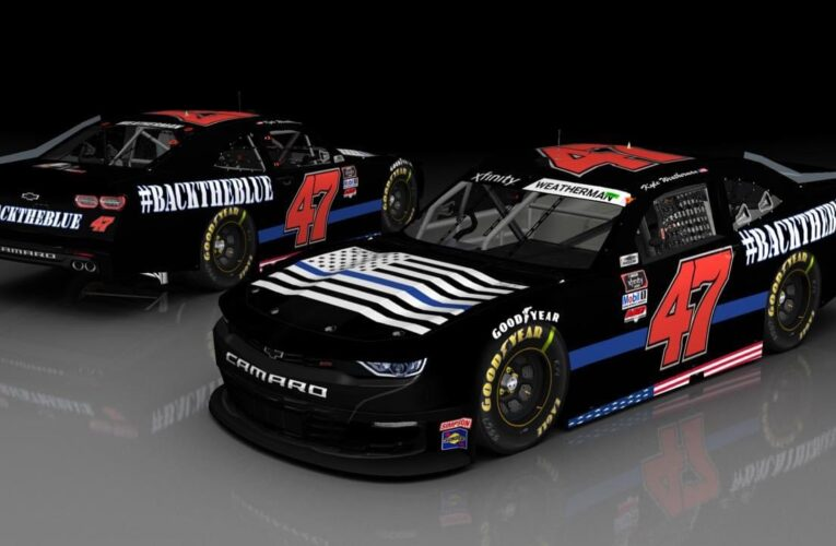 NASCAR team races with pro-police 'Back The Blue' paint scheme