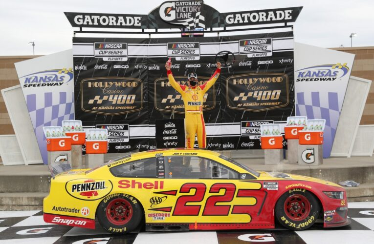 Logano punches ticket to final-four in Kansas
